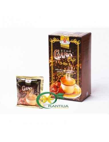Gano Cafe 3 in 1 Plic Este o bautura calda nutritiva ce contine cafea Arabica, extract din Ganoderma Lucidum, zahar natural din