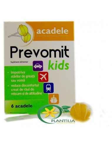 Acadea Prevomit Kids Zdrovit Acadele pentru copii recomandate pentru reducerea senzatiei de disconfort (greata, ameteala), a rau
