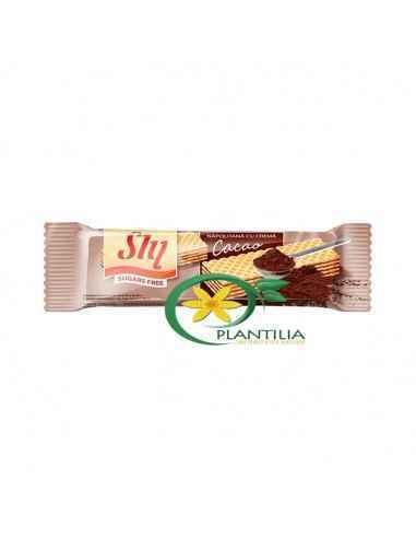 Napolitana Fara Zahar cu Cacao 20g Sly Cu un continut ridicat de pudra de cacao napolitanele cu cacao fara zahar Sly au un gust