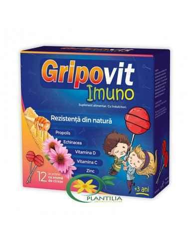 GripoVit Imuno 12 acadele Zdrovit Formula complexa a produsului ajuta la mentinerea imunitatii in timpul sezonului rece, confer