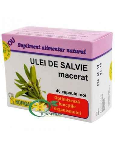 Ulei Salvie 40cps Hofigal Este un produs natural care asigura completarea deficientelor nutritionale in vederea echilibrarii die