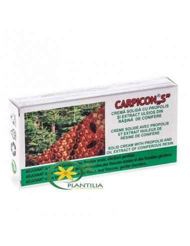CarpiconS supozitoare 1.5g x 10 buc Elzin Plant Produs natural obținut prin procedee speciale din extract de propolis, răşină d