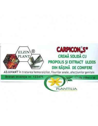 Carpicon S supozitoare 1g Elzin Plant, CarpiconS supozitoare 1g x 10 buc Elzin Plant Produs natural obținut prin procedee speci