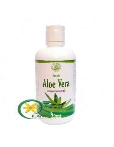 Suc Aloe Vera Datorita compozitiei naturale, sucul de Aloe Vera joaca un rol important in detoxifierea si regenerarea organismul
