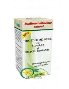 Drojdie de bere cu AlfAlfa si Siliciu Organic 60 cpr Hofigal