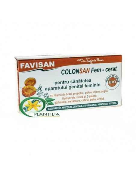 Colonsan Fem Supozitoare Bio 5 plante Favisan