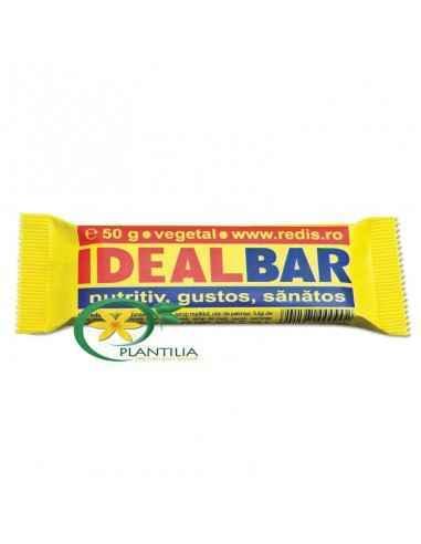 Ideal Bar 50gr Redis, Baton Ideal Bar Ideal Bar se recomanda ca aliment energetic sanatos, prin continutul de nutrienti de calit