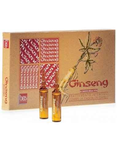 Lotiune contra caderii parului cu Ginseng 12 fiole Bes Beauty & Science, Lotiune contra caderii parului cu Ginseng Previne si st
