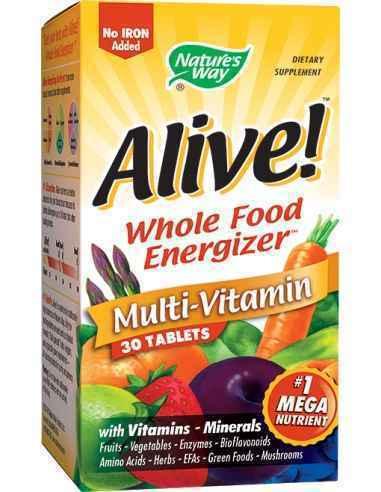 Alive!™ (fara fier adaugat) 30 tablete Nature's Way