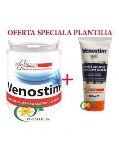 Venostim 120 cps + Venostim Gel 100 ml FarmaClass Venostim este eficient in tratamentul manifestarilor insuficientei venoase cro