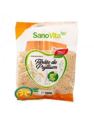 Tarate de Psyllium 150g SanoVita Psyllium este o plantă din care se consumă doar învelișul seminței, datorită bogăției de fibre