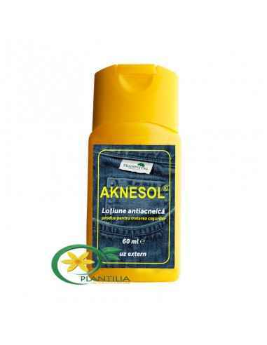 Aknesol Lotiune Antiacneica 60 ml Are un efect de reglare calitativă și cantitativă a secreției de sebum a pielii.
