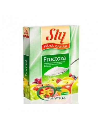 Fructoza 400g Sly Nutritia Fructoza sau zaharul din fructe este un indulcitor ce se poate utiliza, asemenea zaharului, la prepar