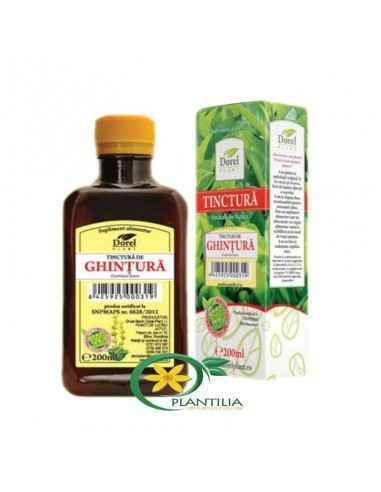 Tinctura Ghintura 200 ml Dorel Plant Acest produs este indicat pentru arsuri stomacale, gastrite, ulcer stomacal de orice tip, H