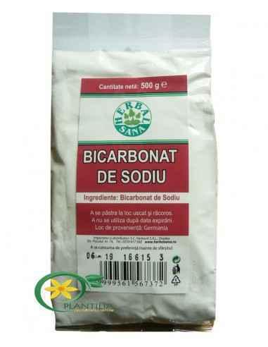Bicarbonat de Sodiu 500g Herbavit Bicarbonat de Sodiu - de uz alimentar.