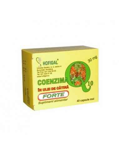 Coenzima Q10 in Ulei de catina 30mg Forte 40cps Hofigal