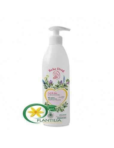 """Gel de duș """"Bebe Drag"""" cu Aloe și Unt de shea 500ml Viva Natura"""