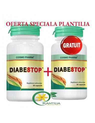 DIABESTOP 30 +30 capsule GRATUIT Cosmo Pharm, DIABESTOP 30 +30 capsule GRATUIT Cosmo Pharm Reduce complicatiile cronice ale diab
