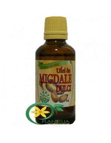 Ulei migdale dulci 50ml Herbavit, Ulei de migdale dulci - presat la rece Ulei cu eficientă nutritivă superioară, fiind bogat în