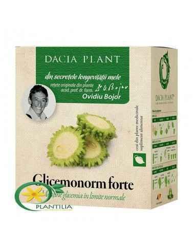 Glicemonorm Forte ceai 50g Dacia Plant Menţine glicemia în limite normale. Glicemonorm Forte ceai, reprezintă o combinație unică
