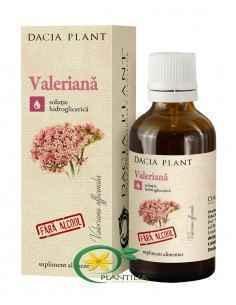Tinctura Valeriana fara alcool 50ml Dacia Plant