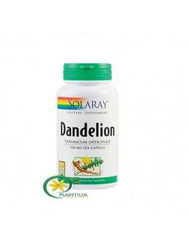 Dandelion 100 cps Secom, Dandelion (Papadie) 520mg 100 capsule Solaray Contribuie la functionarea normala a sistemelor digestiv