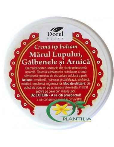 Crema Marul Lupului, Galbenele si Arnica 100g Dorel Plant Această cremă este un extract natural obținut prin combinarea de Mărul