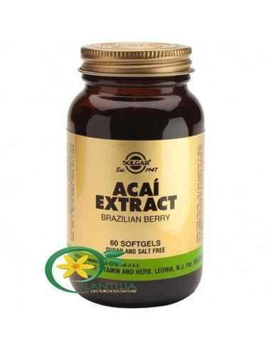 Acai Extract 60 cps Solgar, Acai Extract 60 cps Solgar Fructele Acai contin substante extrem de benefice pentru organism, antiox