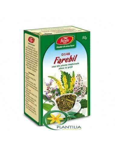 Ceai Farebil 50g Fares, Ceai Farebil 50g Fares Asigura o digestie optima si sustine sanatatea ficatului.