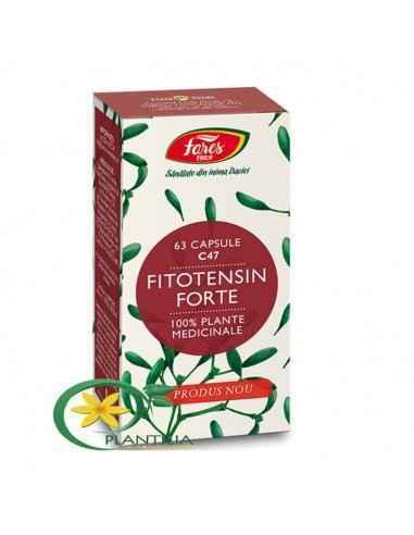 Fitotensin Forte 63 cps Fares  Rețetă complexă de extracte, uleiuri esențiale și plante pentru reglarea tensiunii arteriale. Con