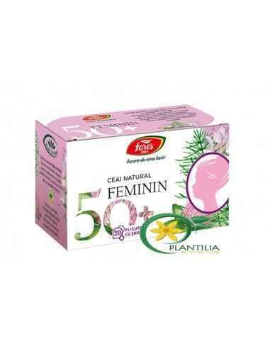 Ceai Feminin 50+ 20 plicuri Fares,  Ceai Feminin 50+ 20 plicuri Fares Ceai natural din plante medicinale pentru echilibrarea bal