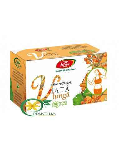 Ceai Viata Lunga 20 plicuri Fares Prin efectul antioxidant, tonic și revigorant protejează organismul împotriva îmbătrânirii pre