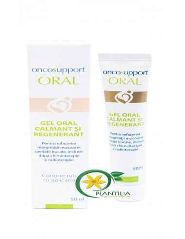 Gel Oral Calmant si Regenerant 50ml OncoSupport Formeaza o bariera protectoare a mucosei de la nivelul cavitatii bucale reducan