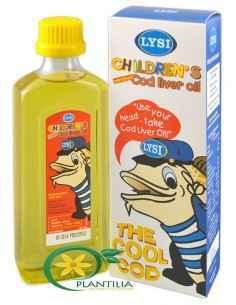 Cod Liver Oil pentru copii (Ulei din ficat de cod) 240ml Lysi