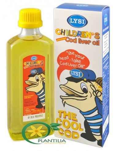 Ulei din Ficat de Cod pentru Copii, LYSI Sursa ideala de Vitamine A, D, E si de acizi grasi Omega-3, reprezinta terapia traditio
