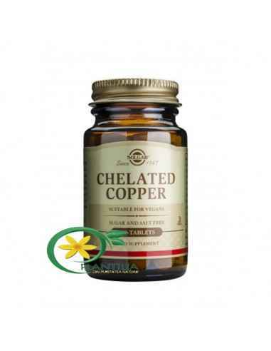 Cupru Chelat 100 tablete Solgar,  Chelated Copper 100tb (Cupru chelat) Solgar Contribuie la formarea hemoglobinei și a celulelor