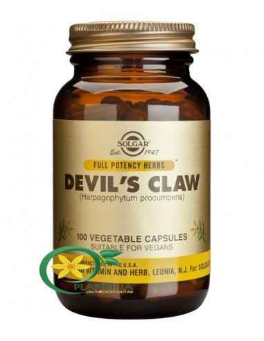Devil's Claw 100cps (Gheara diavolului) Solgar  Devil's Claw este un supliment alimentar, pe baza de extract de gheara diavolulu