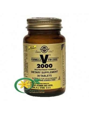 Multivitamine Formula VM 2000 30 tablete Solgar O formulă echilibrată cu putere ridicată, ce conține toate vitaminele necesare,