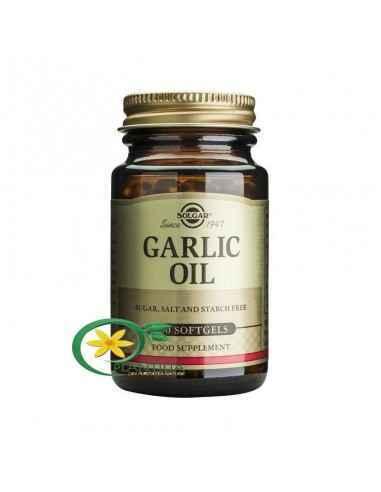 Ulei de Usturoi 100 cps Solgar, Garlic Oil - Ulei de Usturoi 100 cps Solgar  Capsulele cu ulei de usturoi Solgar sunt procesat