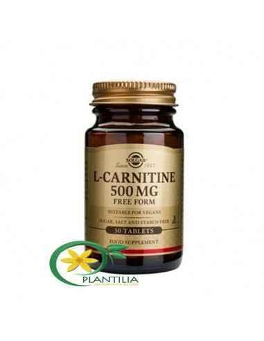 L-Carnitine (L-carnitina) 500mg 30 tablete Solgar L-carnitina este importantă pentru metabolizarea grăsimilor, în special în ce
