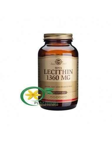 LECITHIN (Lecitina) 1360mg 100 capsule moi Solgar Lecitina sustine efortul intelectual, asigurand nutritia celulelor nervoase, r