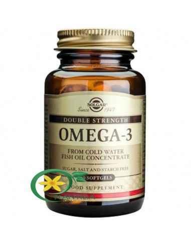 Omega 3 Double Strength (Putere Dubla) 60 cps Solgar Omega-3 de la Solgar este o metodă unică de procesare ce permite acizilor g