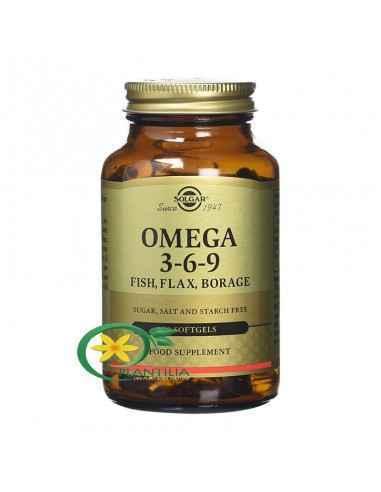 Omega 3-6-9 60 cps Solgar,  Omega 3-6-9 60 cps Solgar Inul este una dintre cele mai bogate surse naturale de acizi grași Omega 3