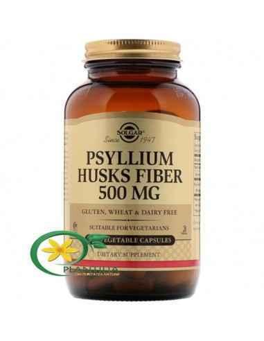 Psyllium Husks Fibre 500mg 200cps Solgar Psylliumul contribuie în mod natural la curățarea intestinelor, fără a le irita, deoar