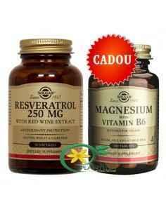 Resveratrol 30 cps + Magneziu cu B6 100 tablete Solgar
