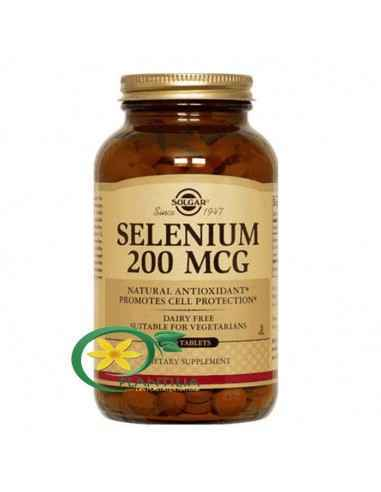 Seleniu 50 tablete Solgar, Selenium (Seleniu) 200mcg 50tb Solgar Seleniul este un oligoelement esențial ce acționează în mod sin