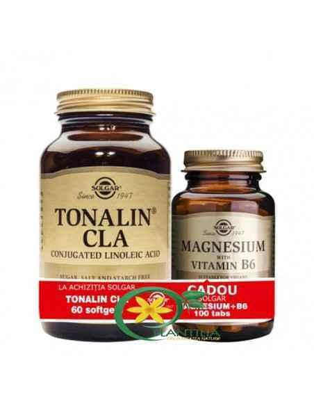 Tonalin CLA 60 cps + Magneziu cu B6 100 tablete Solgar
