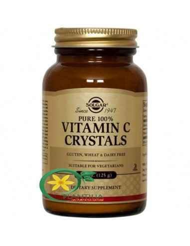 Vitamina C 1125mg Cristale 125g Solgar  Vitamina C este o vitamină antioxidantă esențială sănătății organismului, fiind în speci