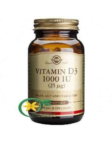 Vitamina D3 1000iu 100 capsule moi Solgar Forma activă a vitaminei D3 are un rol în activarea a unui număr mare de procese biolo