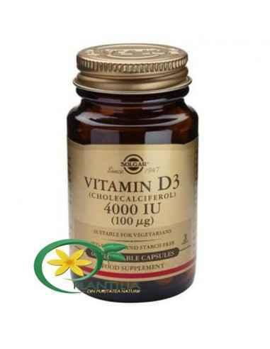 Vitamina D3 4000ui 60 cps Solgar, Vitamina D3 4000ui 60 cps Solgar Forma activă a vitaminei D3 are un rol în activarea a unui nu